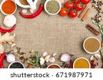 eastern cooking ingredients  ... | Shutterstock . vector #671987971