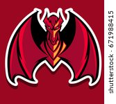 the angry red dragon mascot... | Shutterstock .eps vector #671988415