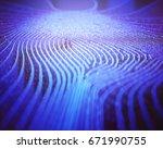 3d illustration. fingerprint in ...   Shutterstock . vector #671990755