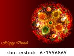 colorful traditional indian... | Shutterstock . vector #671996869