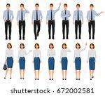 vector illustration of men and... | Shutterstock .eps vector #672002581