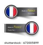 flag icon and label with text... | Shutterstock .eps vector #672005899