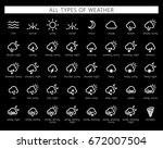 vector illustration of weather... | Shutterstock .eps vector #672007504