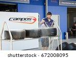 buriram   october 31  team... | Shutterstock . vector #672008095