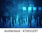 2d rendering stock market... | Shutterstock . vector #672011257