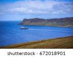 a ferry depart  from ferry...   Shutterstock . vector #672018901