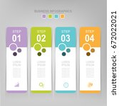 infographic template of four... | Shutterstock .eps vector #672022021