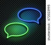 vector realistic isolated neon... | Shutterstock .eps vector #672023995