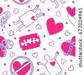 vector heart and razor love...   Shutterstock .eps vector #672024961