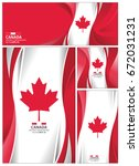 canada flag abstract colors... | Shutterstock .eps vector #672031231