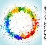 color paint splashes round...   Shutterstock .eps vector #67203601