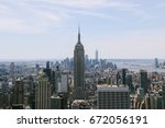 new york  usa   circa may 2017  ... | Shutterstock . vector #672056191