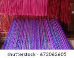 weaving work   weaving machine... | Shutterstock . vector #672062605