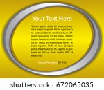 template yellow  silver and... | Shutterstock .eps vector #672065035