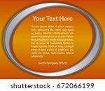 template orange  silver and... | Shutterstock .eps vector #672066199