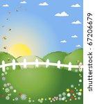 an illustration of a summer... | Shutterstock . vector #67206679