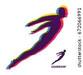 leadership concept. personal... | Shutterstock .eps vector #672066991