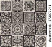 vector abstract patchwork... | Shutterstock .eps vector #672071041
