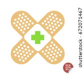 patch medical flat with cross....