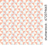seamless abstract geometric... | Shutterstock .eps vector #672074665