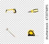 realistic length roulette ... | Shutterstock .eps vector #672076891