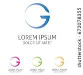letter g logo template   Shutterstock .eps vector #672078355