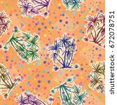 exotic seamless pattern ... | Shutterstock . vector #672078751