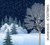 winter christmas holiday... | Shutterstock . vector #672078841
