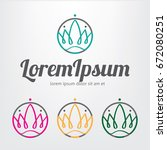 crown logo set. queen logo.... | Shutterstock .eps vector #672080251