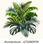 vector vintage composition with ... | Shutterstock .eps vector #672080959