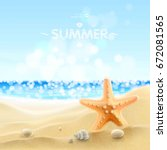 summer holiday background.... | Shutterstock .eps vector #672081565