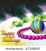 decorative illustration for new ... | Shutterstock .eps vector #67208347