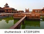 fatehpur sikri  india  ... | Shutterstock . vector #672091894