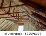 foam plastic insulation of a... | Shutterstock . vector #672096379