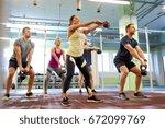 sport  fitness  weightlifting... | Shutterstock . vector #672099769