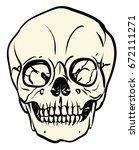 baby skull white cream color ... | Shutterstock .eps vector #672111271