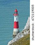 beachy head lighthouse ...   Shutterstock . vector #672119005