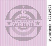 between love and hate retro... | Shutterstock .eps vector #672119575