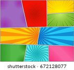 comic book backgrounds set with ...   Shutterstock .eps vector #672128077