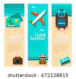 travel and vacation vector... | Shutterstock .eps vector #672128815