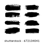 abstract black paint set for... | Shutterstock .eps vector #672134041