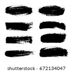 abstract black paint set for...   Shutterstock .eps vector #672134047