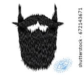 hairy curly hipster strong... | Shutterstock . vector #672143671