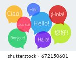 colored speech bubbles with the ... | Shutterstock .eps vector #672150601