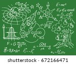 physical equations  formulas... | Shutterstock .eps vector #672166471