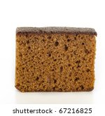 Dutch breakfast cake, often spiced with cloves cinnamon and nutmeg.  Isolated on white background - stock photo