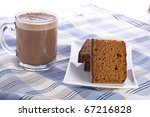 Dutch breakfast cake, often spiced with cloves cinnamon and nutmeg, served with coffee. - stock photo