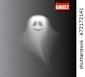 ghost isolated on transparent... | Shutterstock .eps vector #672172141
