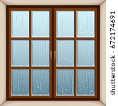 vector illustration of rain... | Shutterstock .eps vector #672174691