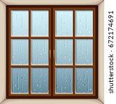 vector illustration of rain... | Shutterstock .eps vector #672174691